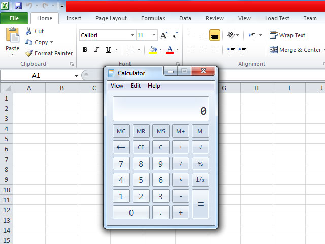 اضافه کردن ماشین حساب ویندوز به منوی Microsoft Excel
