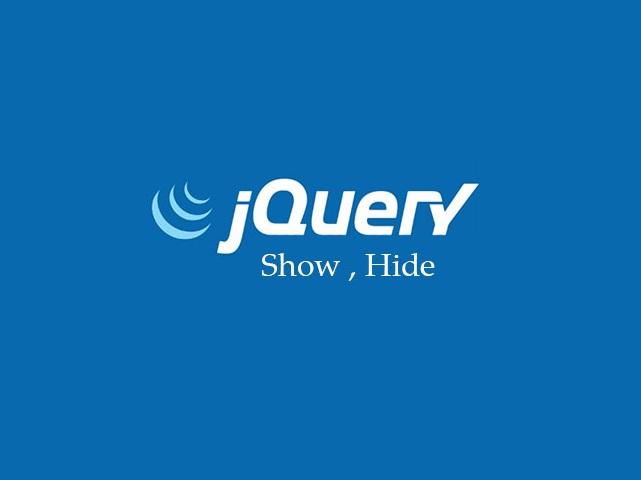 متد show و hide در jQuery