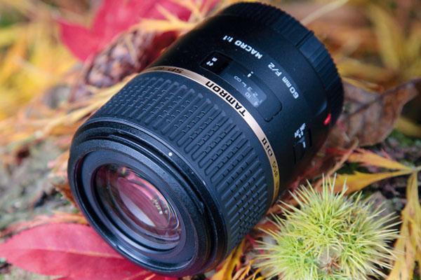 TETBURY, UNITED KINGDOM - OCTOBER 19: A Tamron SP AF 60mm f/2 DI II Macro DSLR camera lens photographed during a shoot for Digital Camera Magazine, October 19, 2012. (Photo by Joseph Branston/Digital Camera Magazine)