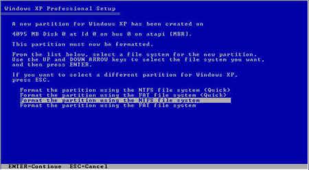 آموزش تصویری نصب ویندوزXP