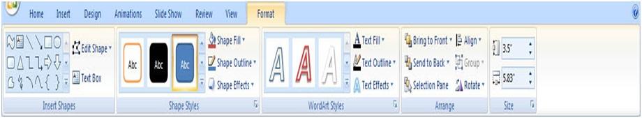 آموزش Powerpoint ایجاد شکل های گرافیکی