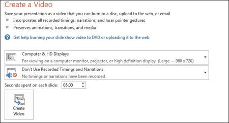 نحوه تبدیل پاورپوینت به یک فایل ویدئویی