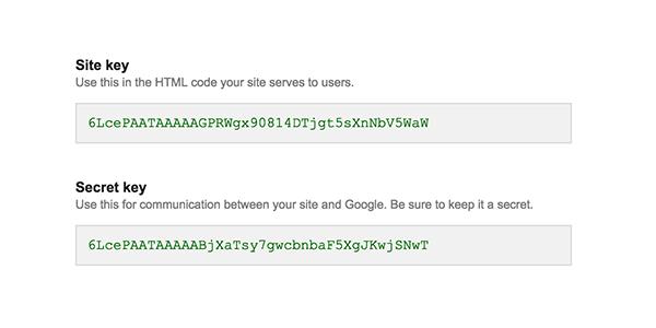 نحوه استفاده از No CAPTCHA reCAPTCHA در وب سایت